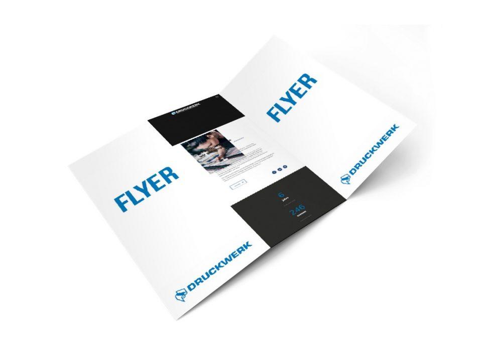 Druckwerk GmbH –Portfolio, Flyer, Mockup