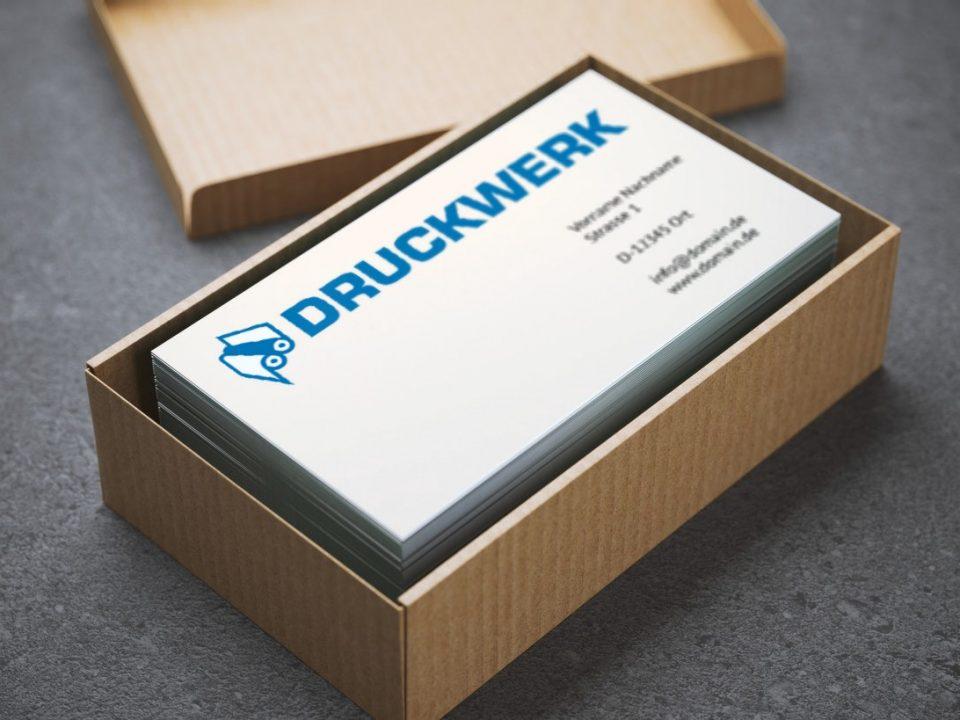 Druckwerk GmbH –Portfolio, Visitenkarten, Mockup
