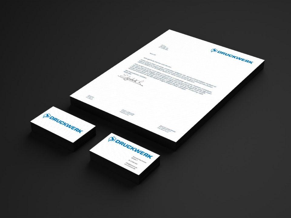Druckwerk GmbH –Portfolio, Geschäftsausstattung, Mockup