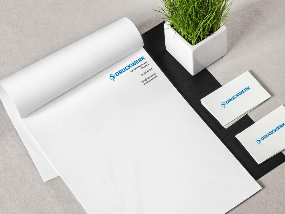 Druckwerk GmbH –Portfolio, Blöcke, Mockup