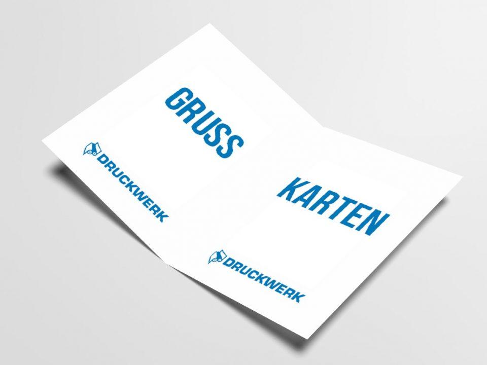 Druckwerk GmbH –Portfolio, Grußkarten, Mockup